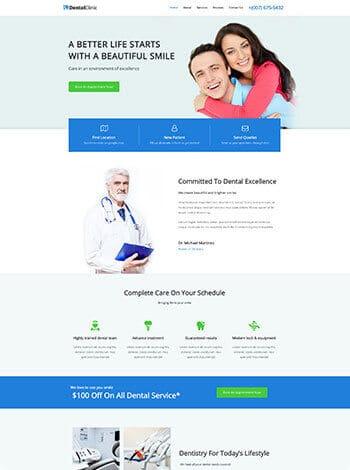 Vorlage Website Arzt Apotheker screenshot