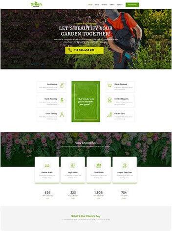 Vorlage Website Gartenservice