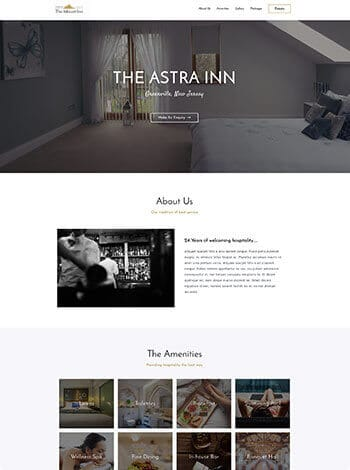 Vorlage Website Hotel Pension Restaurant screenshot