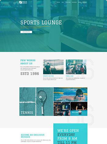 Vorlage Website Sportstudio Verein screenshot